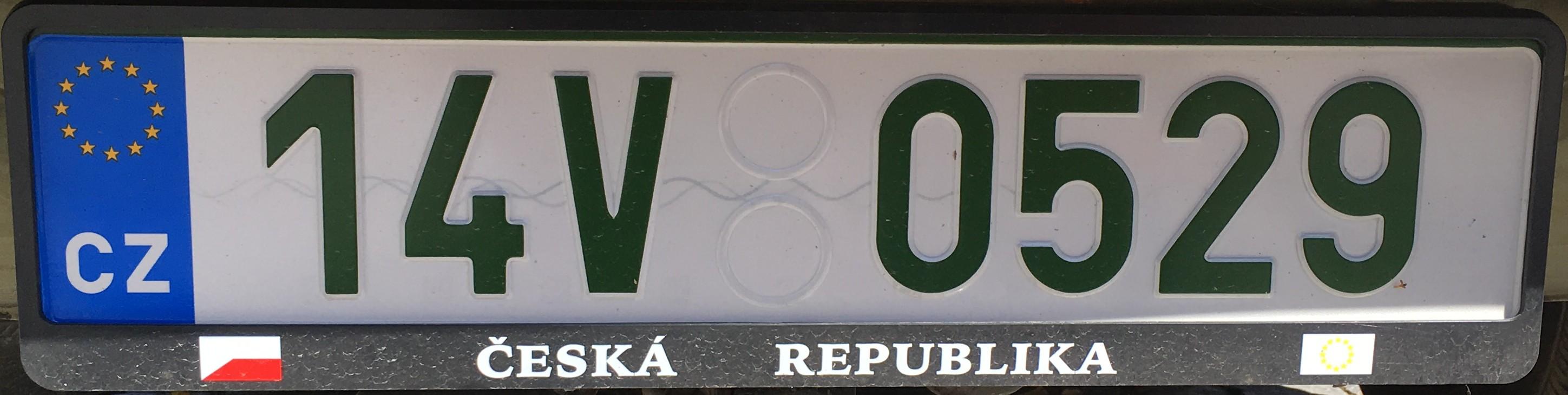 Česká registrační značka - veteránská ze Zlínského kraje