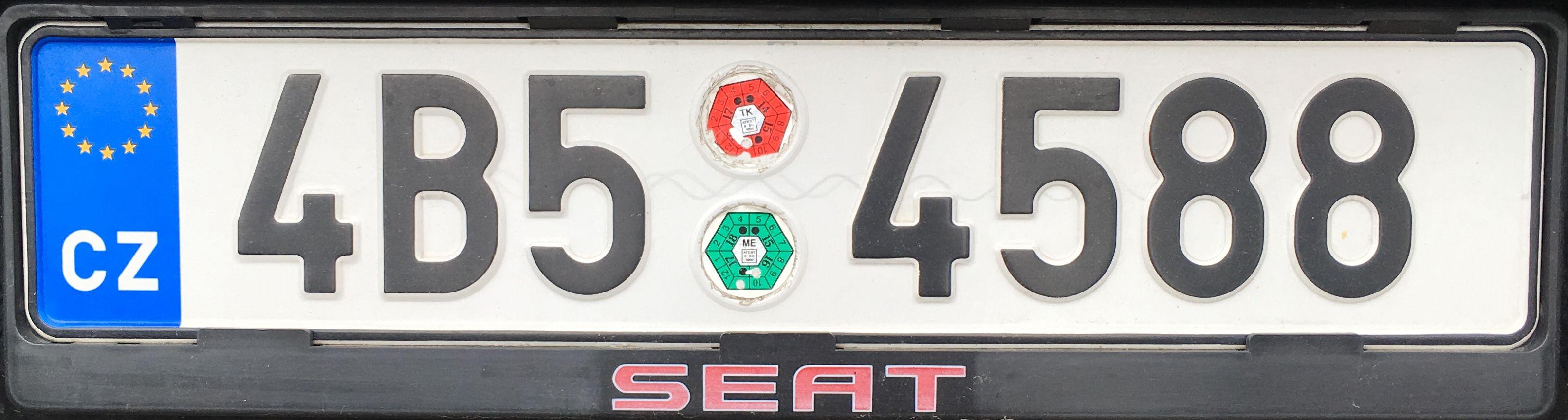 Registrační značky: B - Jihomoravský kraj, foto: vlastní