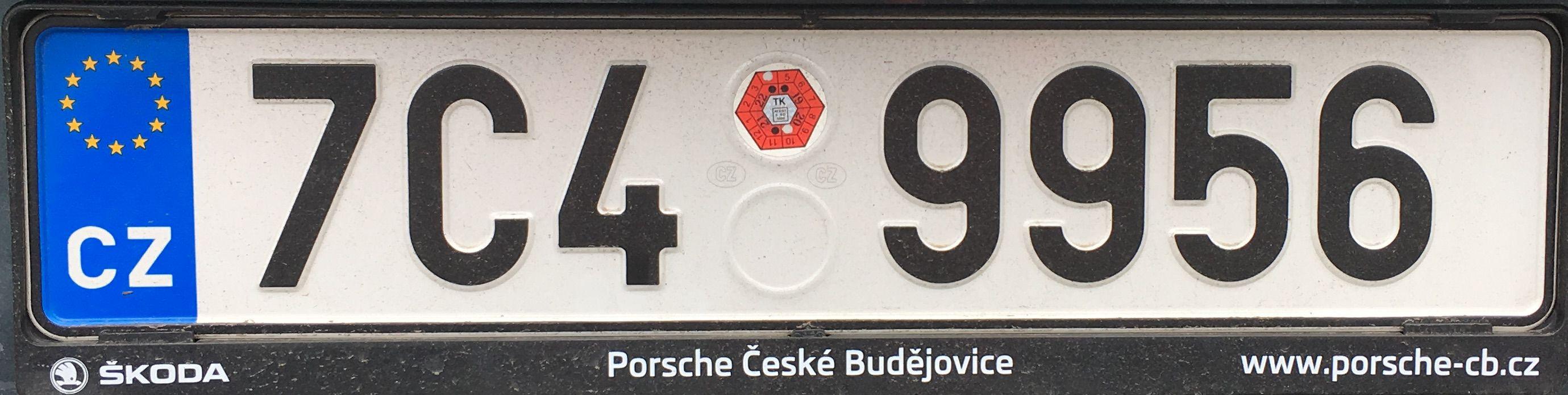 Registrační značky: C - Jihočeský kraj, foto: vlastní