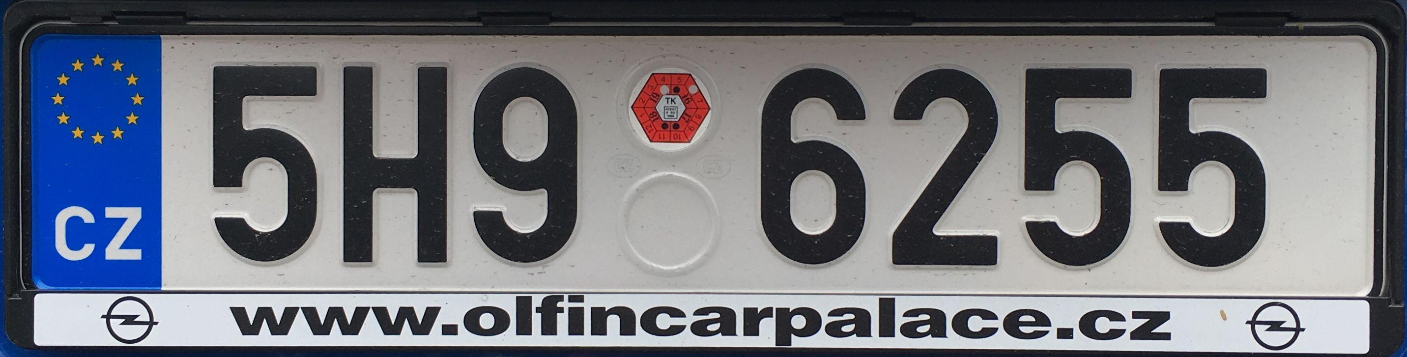 Registrační značky: H - Hradecký kraj, foto: vlastní