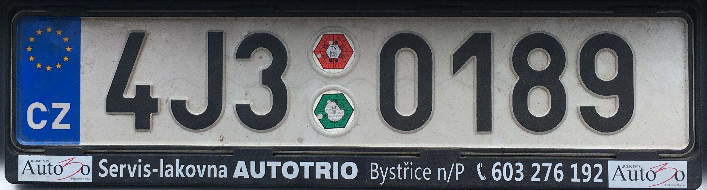 Registrační značky: J - Vysočina, foto: vlastní