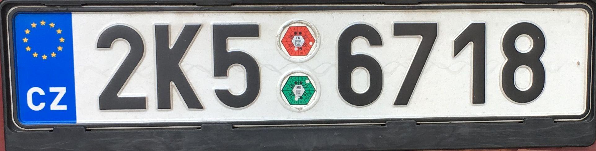 Registrační značky: K – Karlovarský kraj