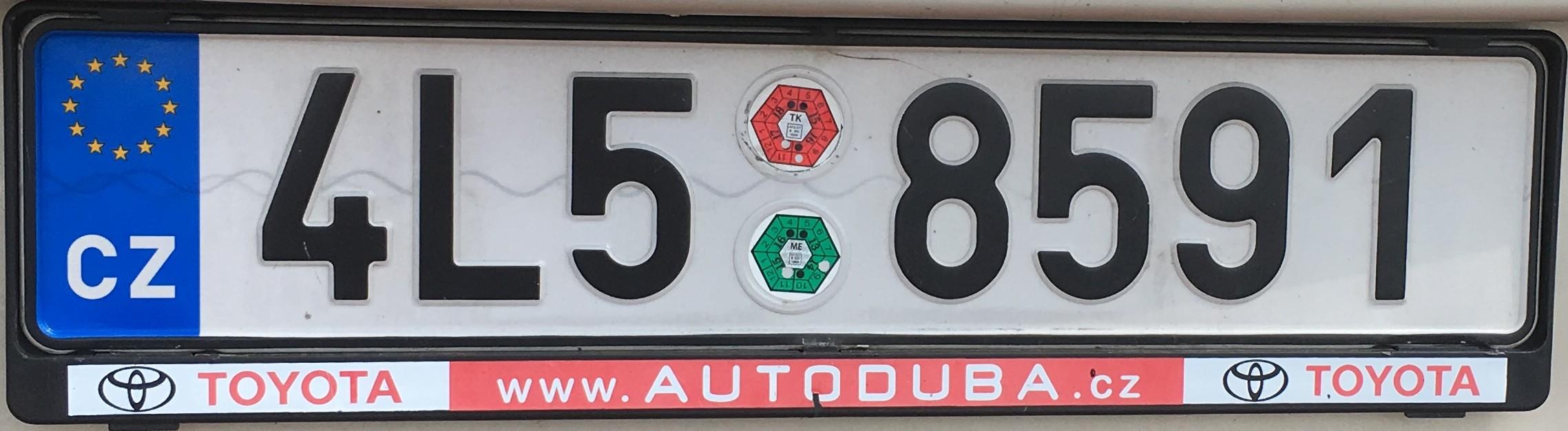 Registrační značky: L - Liberecký kraj, foto: vlastní