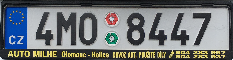 Registrační značky: M - Olomoucký kraj, foto: vlastní