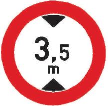 Zákaz vjezdu vozidel, jejichž výška přesahuje vyznačenou mez