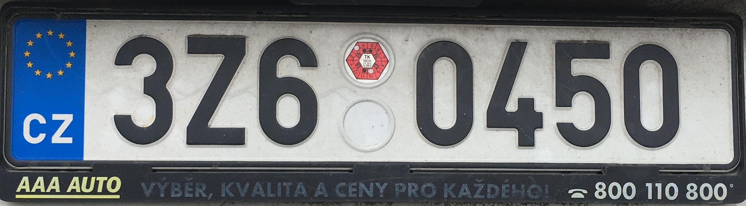 Registrační značky: Z – Zlínský kraj
