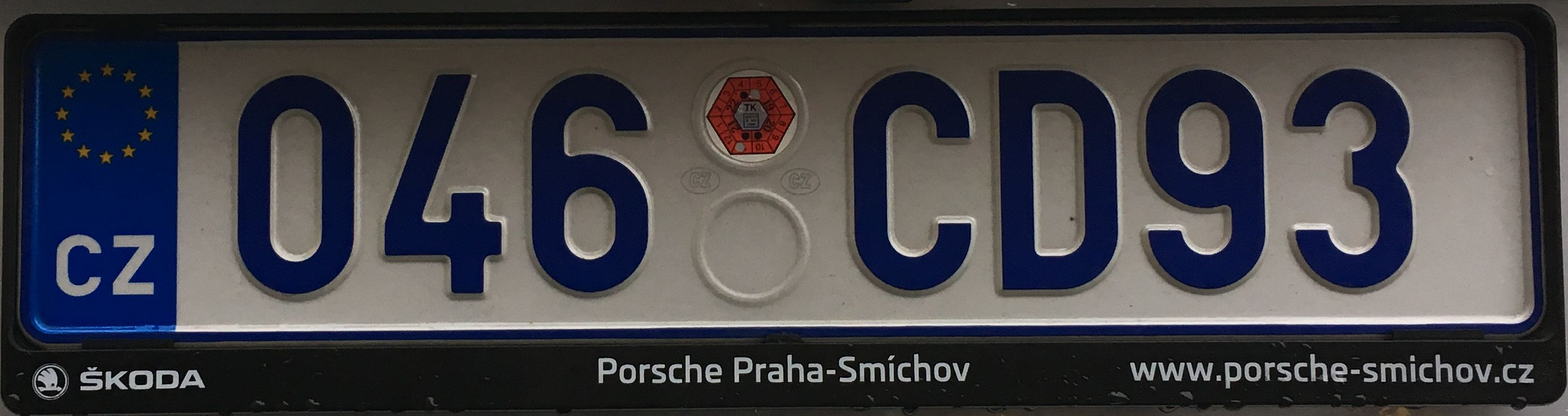 Česká registrační značka – diplomatická, foto: www.podalnici.cz
