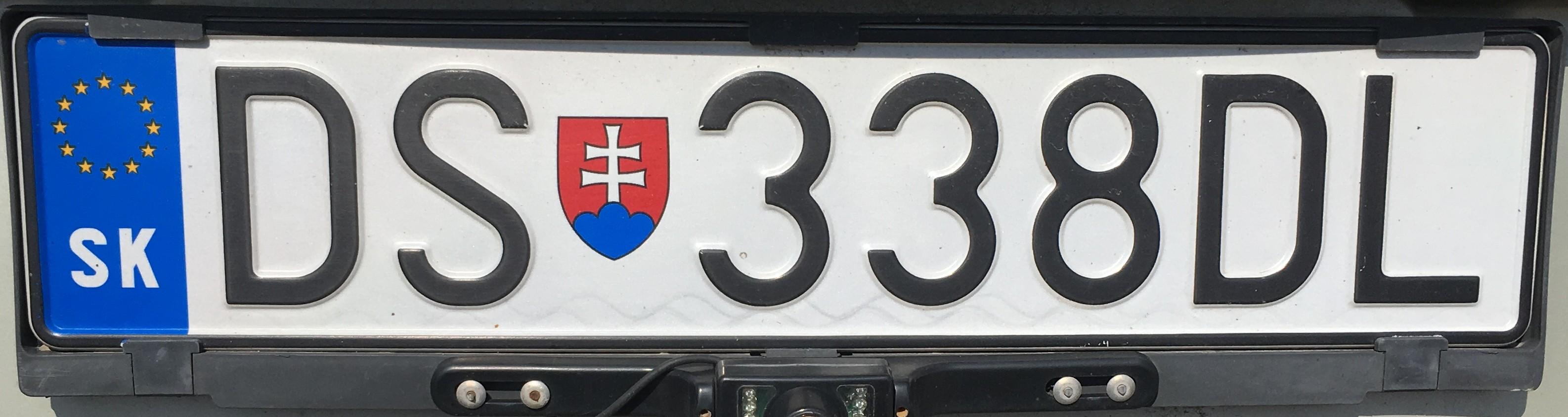 Registrační značka: DS - Dunajská Streda, foto: vlastní