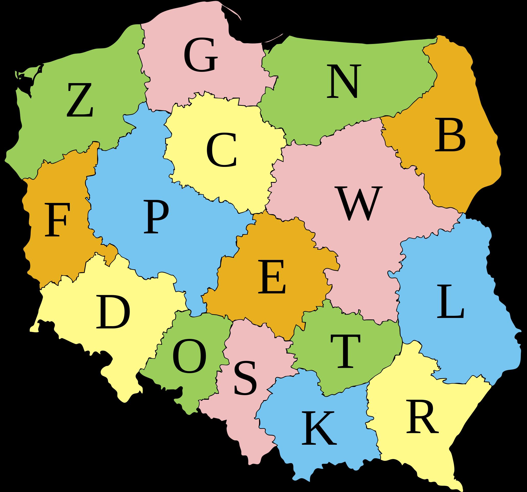 Kódy vojvodství v Polsku