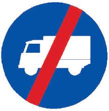 Konec přikázaného jízdního pruhu