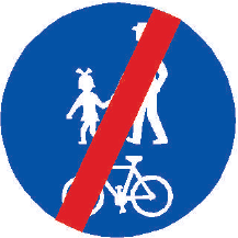 Konec stezky pro chodce a cyklisty společné