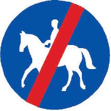 Konec stezky pro jezdce na zvířeti