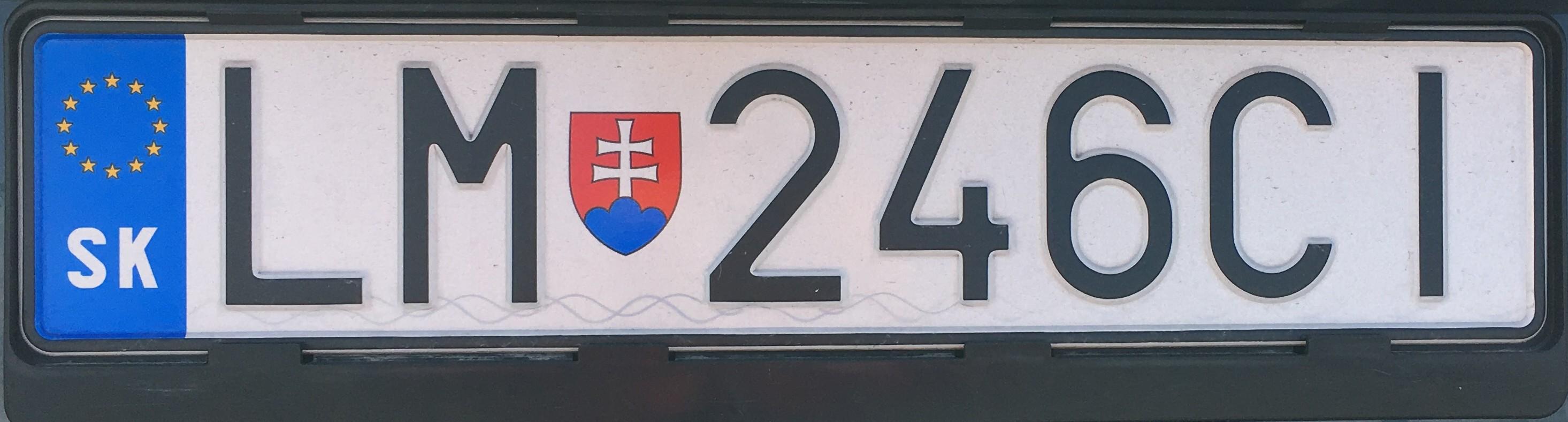 Registrační značka: LM - Liptovský Mikuláš, foto: vlastní
