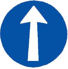 Přikázaný směr jízdy přímo