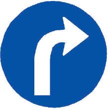 Přikázaný směr jízdy vpravo