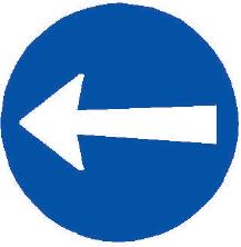 Přikázaný směr jízdy zde vlevo