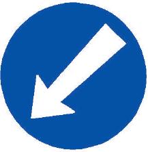 Přikázaný směr objíždění vlevo