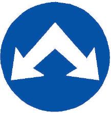 Přikázaný směr objíždění vpravo a vlevo