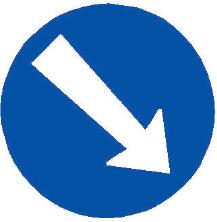 Přikázaný směr objíždění vpravo