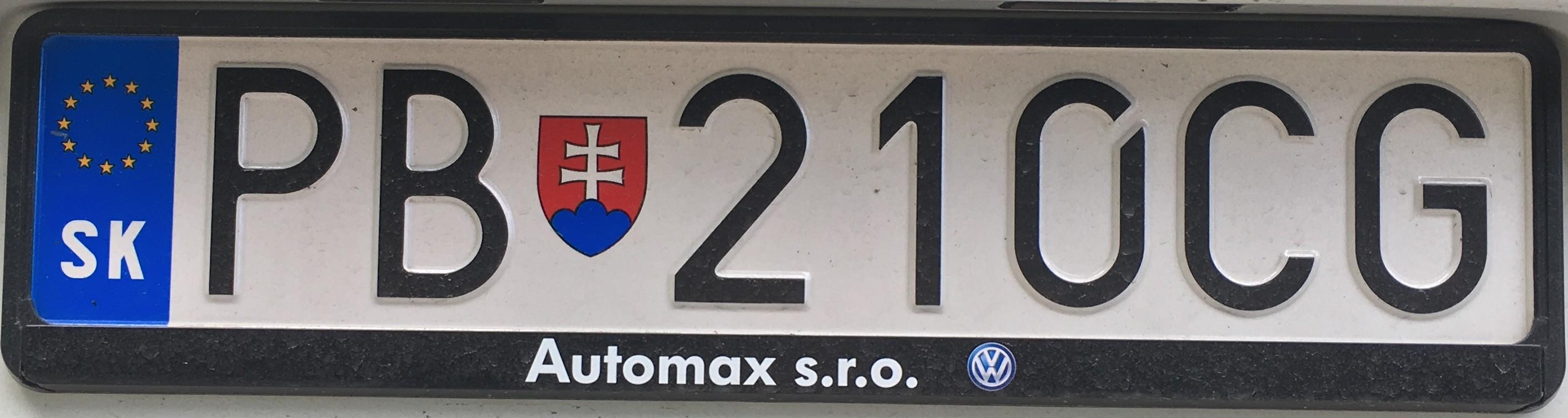 Registrační značka: PB - Považská Bystrica, foto: vlastní