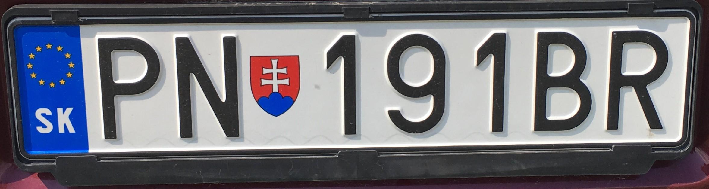 Registrační značka: PN - Piešťany, foto: vlastní