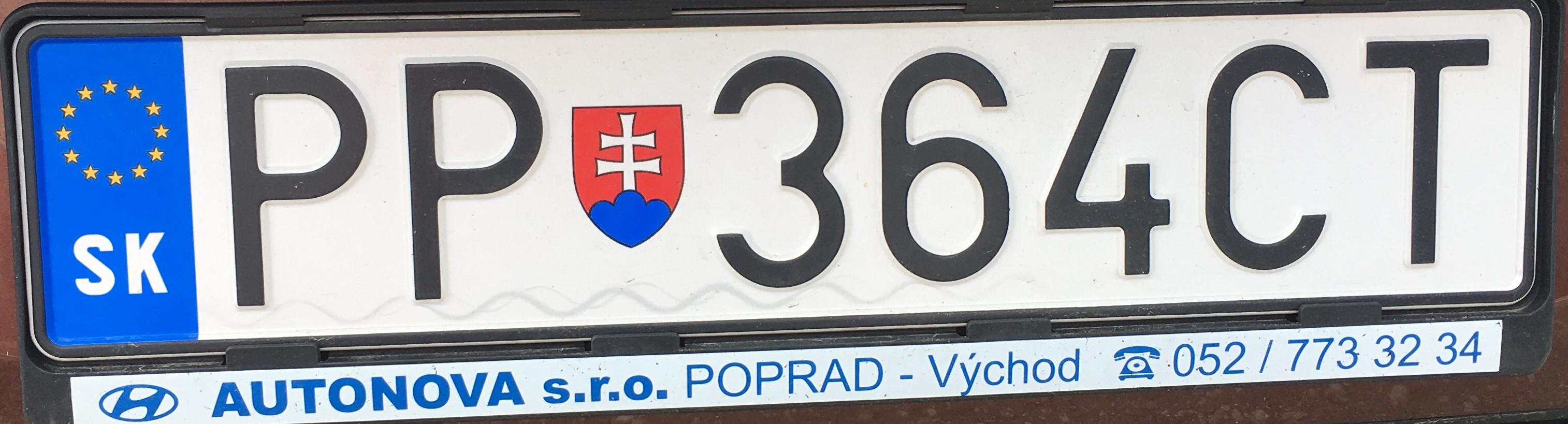 Registrační značka: PP - Poprad, foto: vlastní