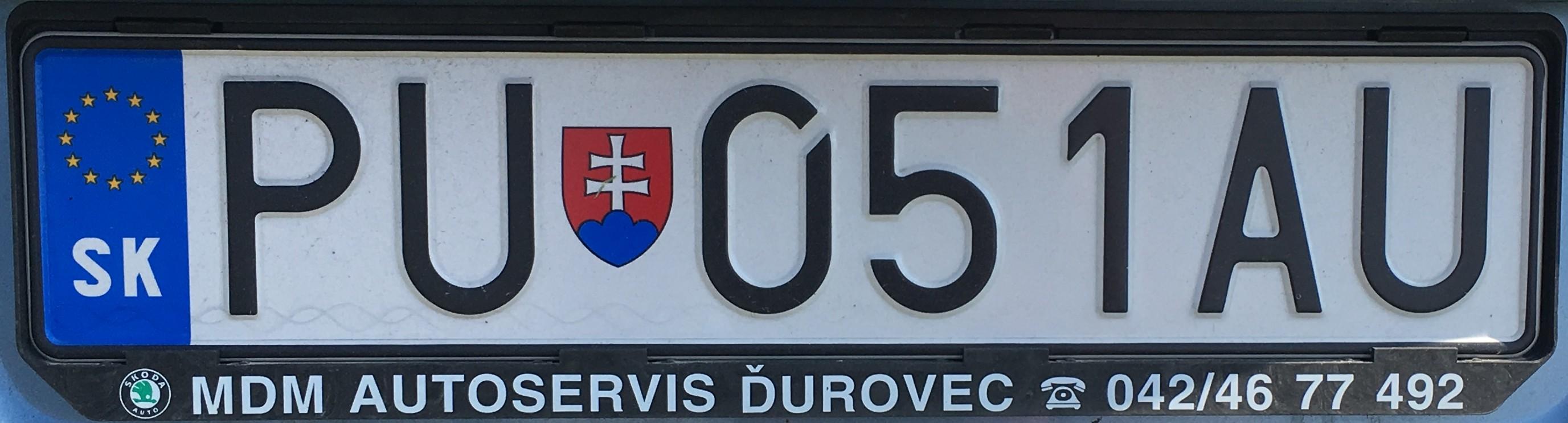 Registrační značka: PU-Púchov, foto: vlastní