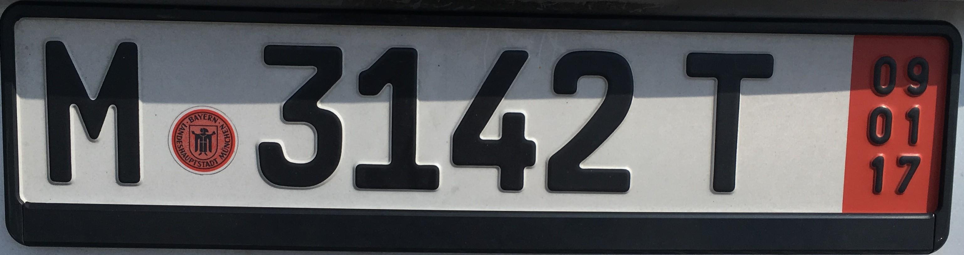 Registrační značka Německo - exportní, foto: vlastní