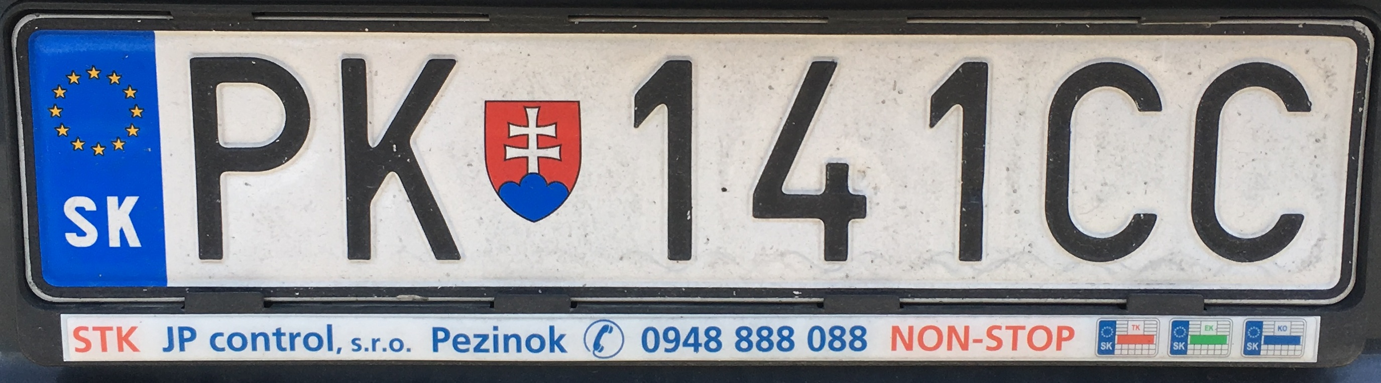 Registrační značka: PK - Pezinok, foto: vlastní