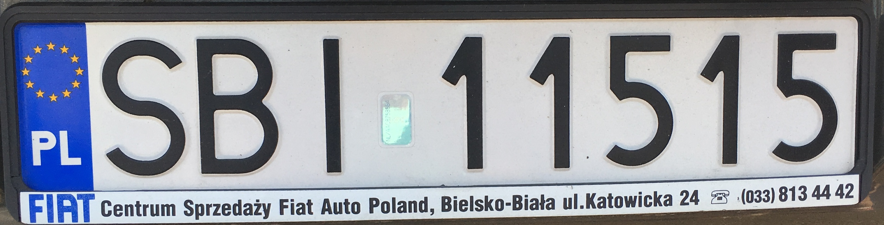 Registrační značka Polsko – SBI – Bielsko-Biała-venkov, foto: vlastní