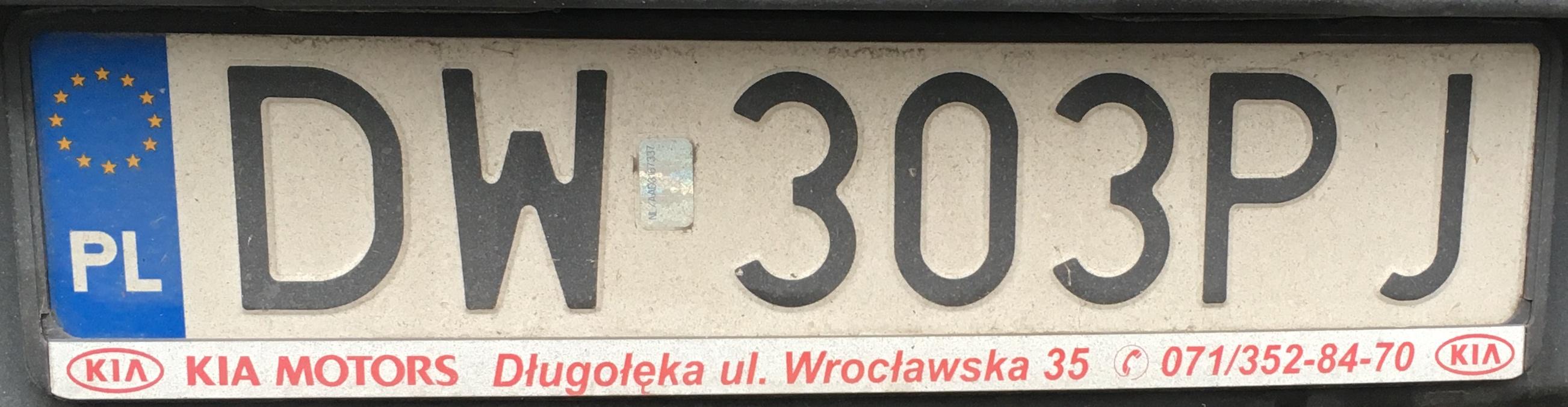 Registrační značka Polsko - DW - Wrocław, foto: www.podalnici.cz