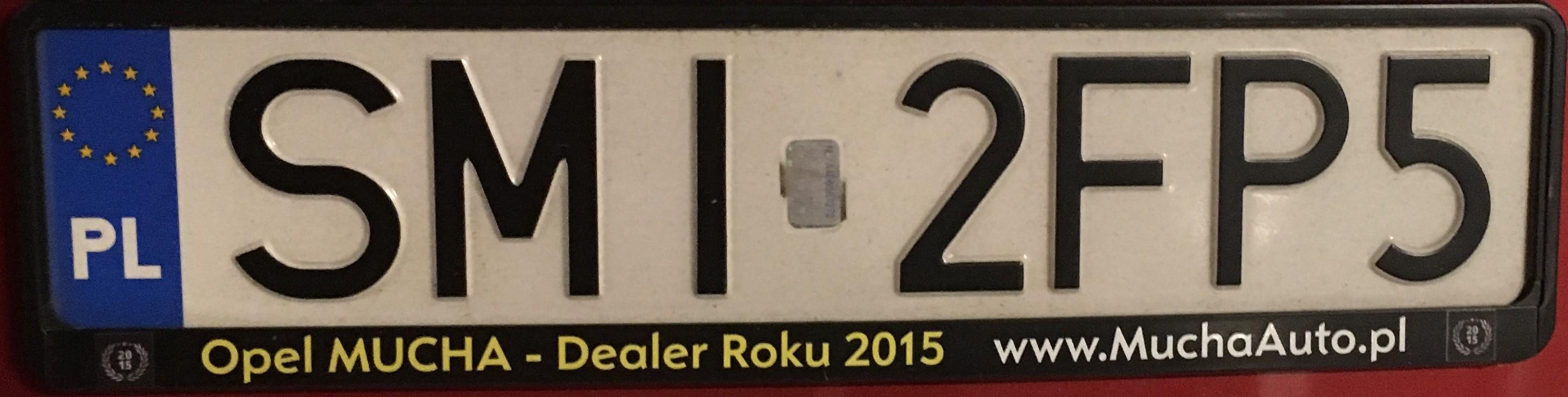 Registrační značka Polsko - SMI - Mikołów, foto: vlastní