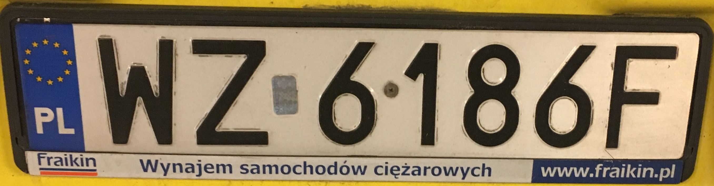 Registrační značka Polsko - WZ - Warszawa-západ, foto: vlastní