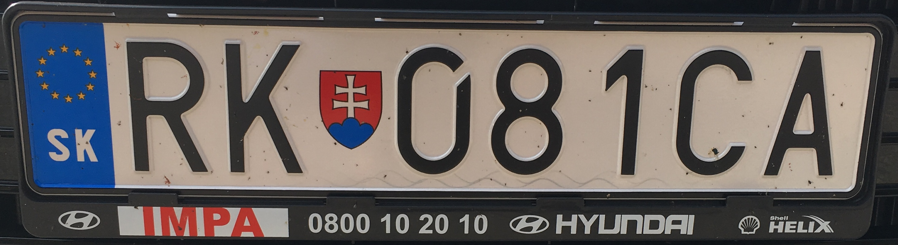 Registrační značka: RK – Ružomberok, foto: vlastní