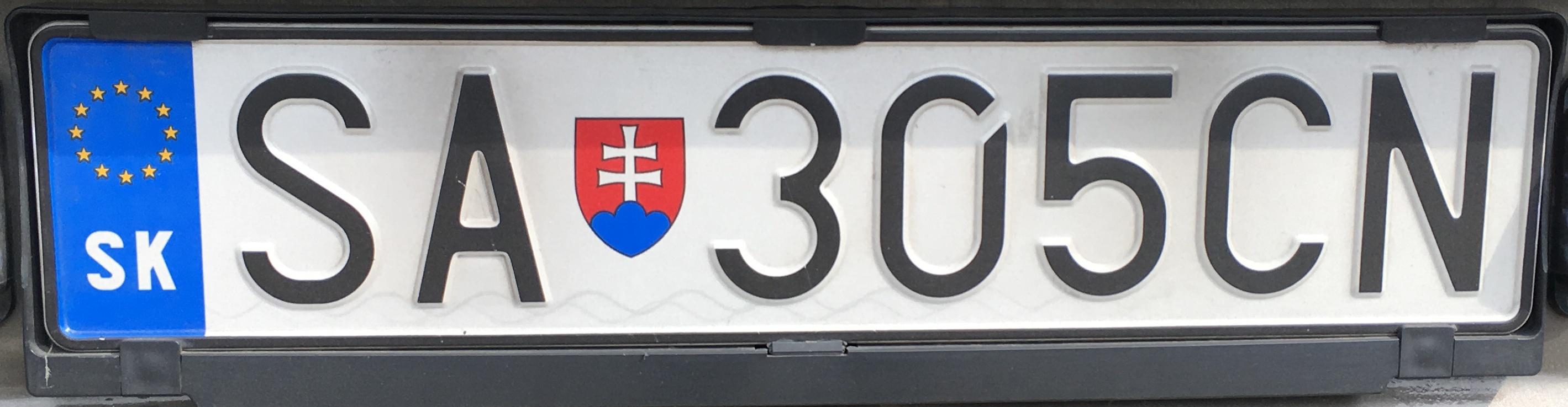 Registrační značka: SA - Šaľa, foto: vlastní