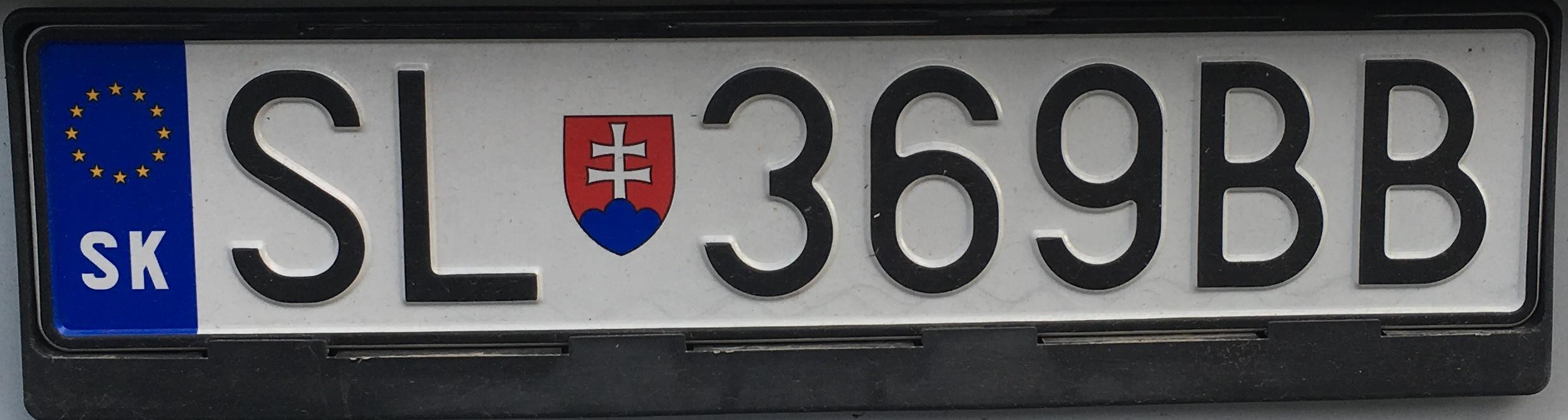 Registrační značka: SL - Stará Ľubovňa, foto: vlastní