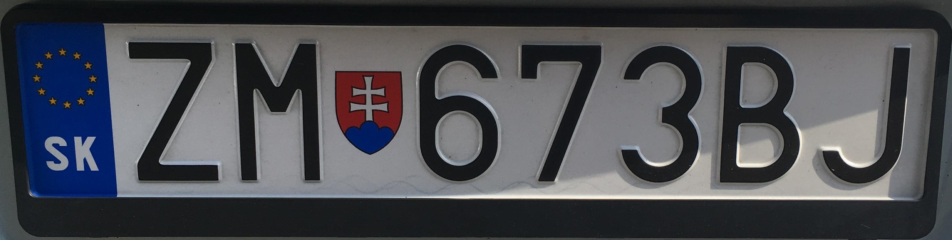 Registrační značka: ZM - Zlaté Moravce, foto: vlastní