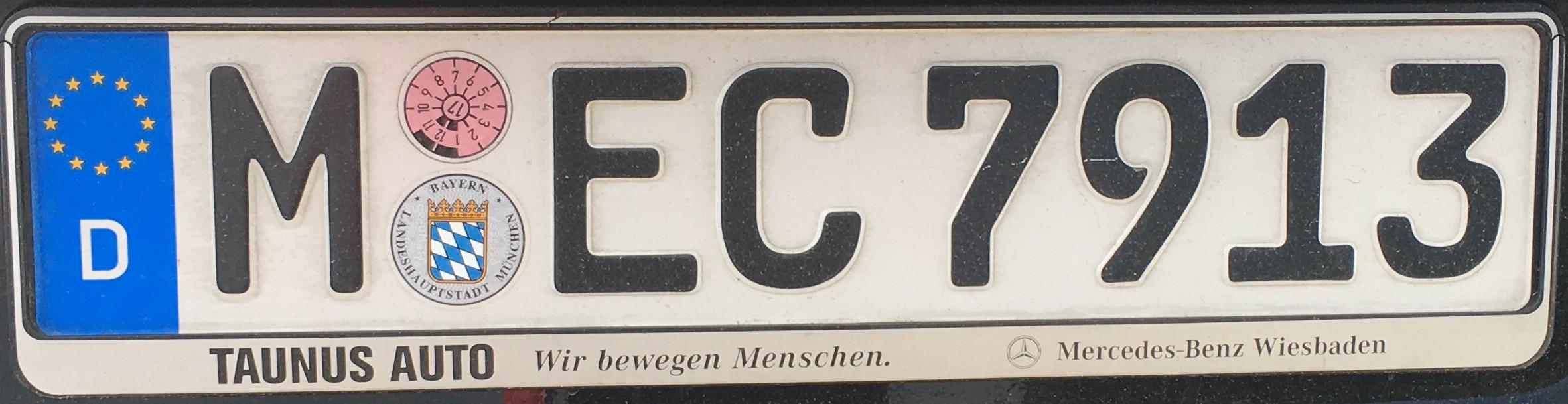 Registrační značky Německo - M - München, foto: vlastní