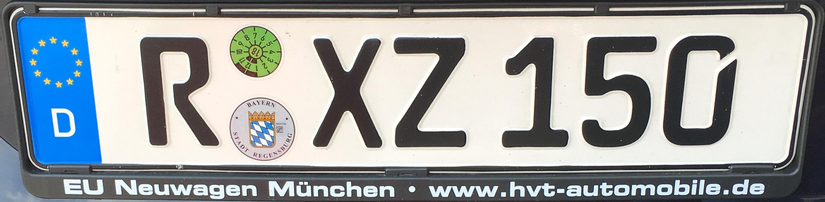 Registrační značky Německo - R - Regensburg, foto: vlastní