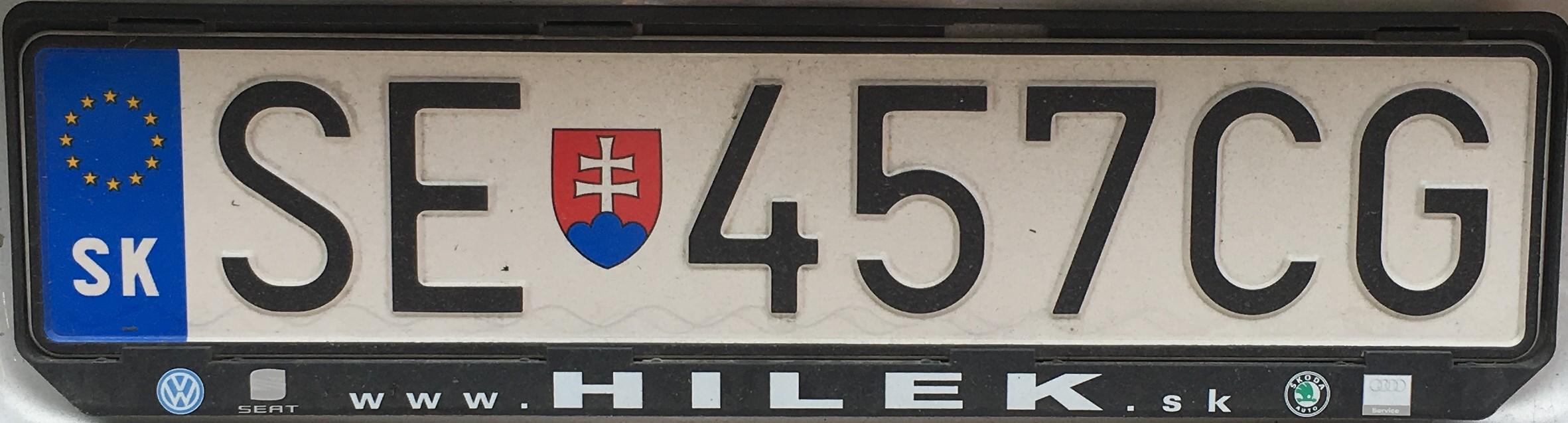 Registrační značka: SE - Senica, foto: vlastní