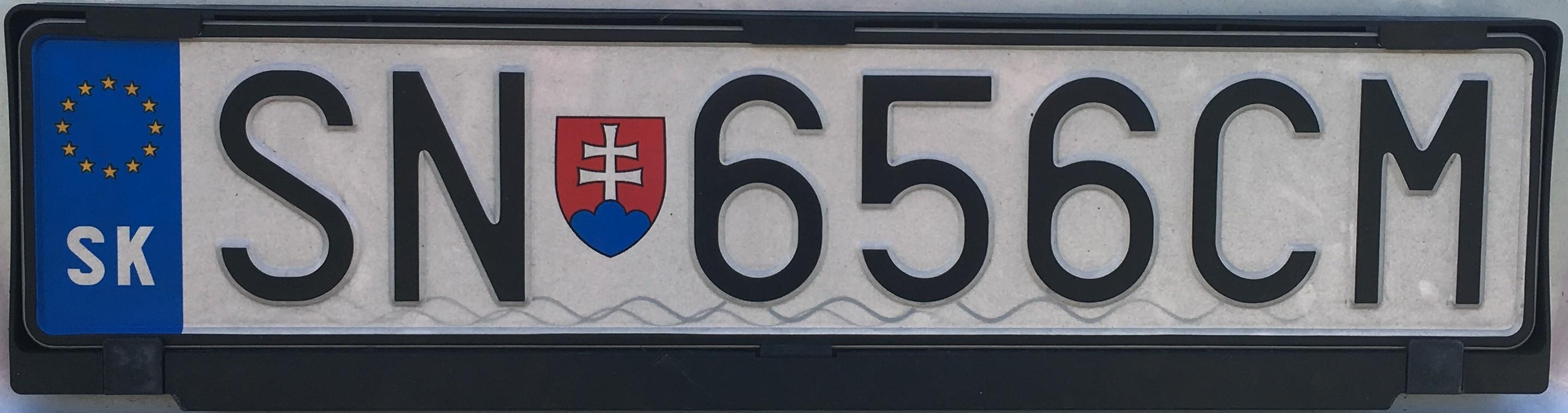 Registrační značka: SN - Spišská Nová Ves, foto: vlastní