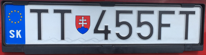 Registrační značka: TT - Trnava, foto: vlastní