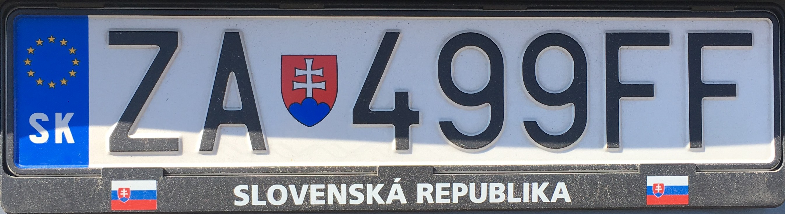 Registrační značka: ZA - Žilina, foto: vlastní