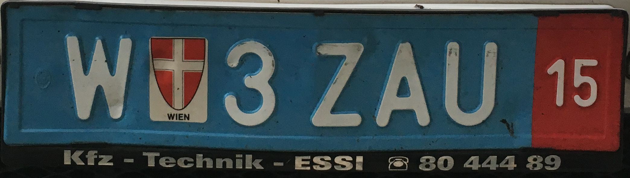 Registrační značka Rakousko – exportní, foto: www.podalnici.cz