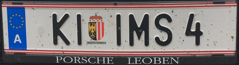Registrační značka Rakousko - KI - Kirchdorf an der Krems, foto: www.podalnici.cz
