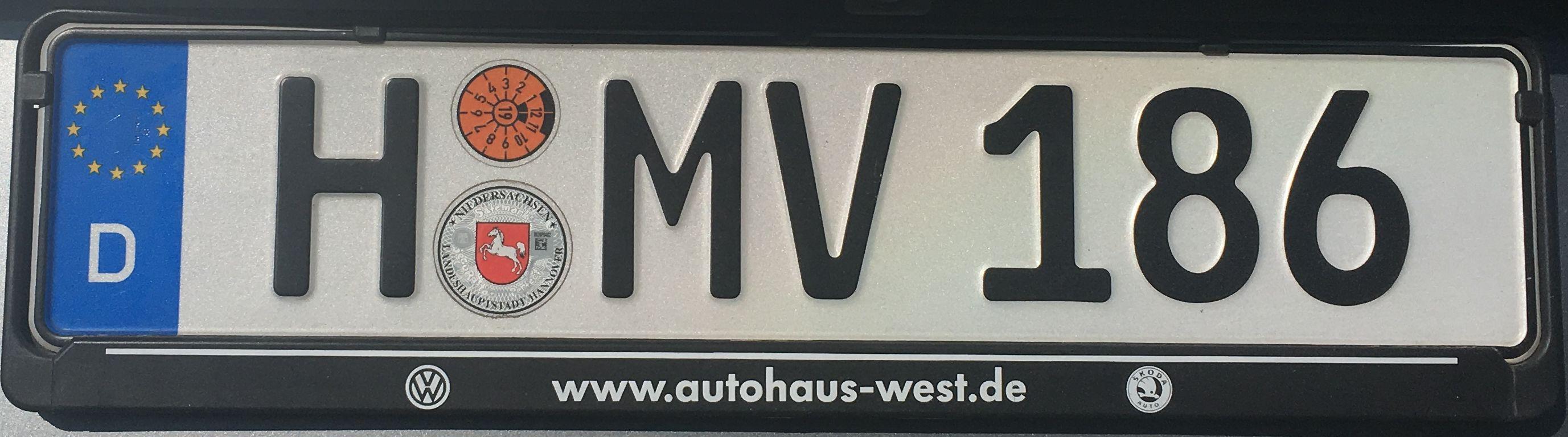 Registrační značky Německo - H - Hannover, foto: vlastní