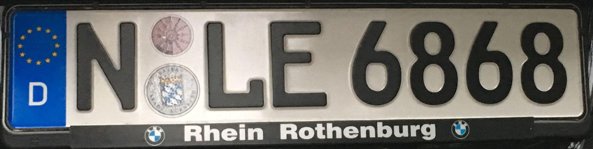 Registrační značky Německo - N - Nürnberg, foto: www.podalnici.cz