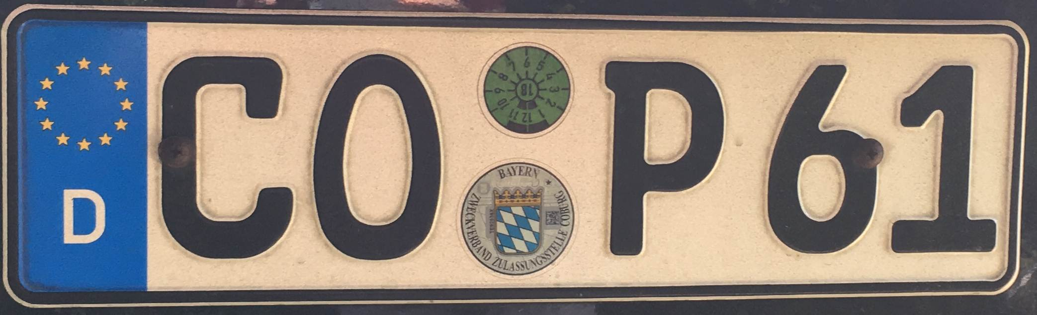 Registrační značky Německo - CO - Coburg, foto: www.podalnici.cz