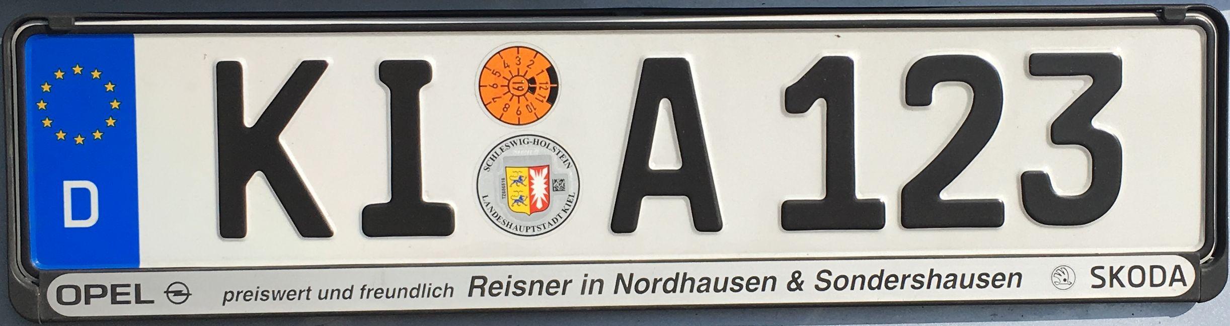 Registrační značka Německo – KI – Kiel, foto: www.podalnici.cz