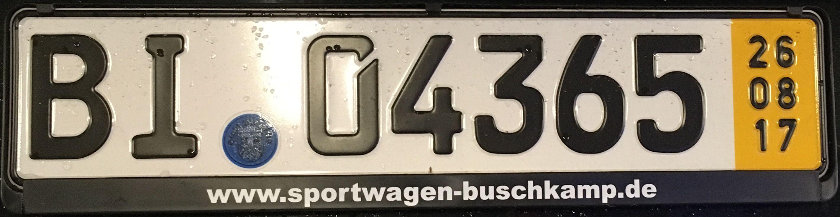 Registrační značka Německo – převozní, foto: www.podalnici.cz